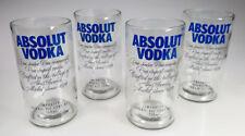 Absolut vodka glasses, hand cut, 22 oz, 750 ml, set of 4