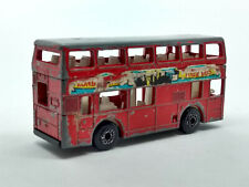 1981 Matchbox Double Decker Bus, Leyland Titan, diecast metal & plastic toy. Sca