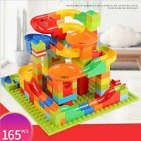 165pcs Classic Marble Run Maze Ball Race Track Building Blocks Toy Bricks Set
