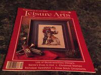 Leisure Arts the Magazine December 1989 Needlework Stiffener