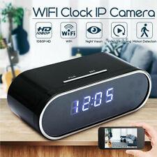1080P Wireless Mini Video Camera WIFI IP IR Mirror Alarm Clock Security Spycam