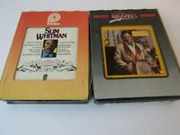Lot of 2 Slim Whitman 8 Track Tapes Happy Anniversary and Christmas with Slim