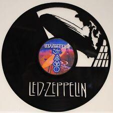 Led Zeppelin Laser Cut Black Vinyl Lp Record Limited Edition Wall Art Display