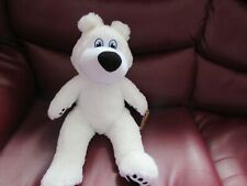 SOFT PLUSH WHITE POLAR BEAR TOY WITH SECRET COMPARTMENT BY TEDDY TASTIC