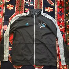 adidas San Jose Sharks Full-Zip Sweatshirt Size XL