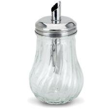 More details for retro glass sugar dispenser pourer decanter cafe bistro restaurant shaker bowl