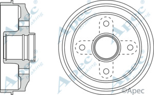 Peugeot 106  Rear Brake Drum  180mm 4hole drm9143,