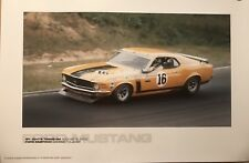 Ford Mustang Trans-Am St Jovite 1970 Racing Car Poster! Stunning! Own It!!