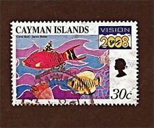 CAYMAN ISLANDS, 1 30c 1999 CORAL REEF (VISION 2008) Stamp, Used SeeDescr  FUS561