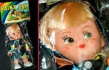 HERRLICH SCHÖNE ALTE PUPPE | RAINY DAY DOLL VINYL KOPF PLASTIK BODY MOVABLE 70s