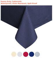 "Tektrum 60""X102"" Rectangular Waffle Tablecloth-Waterproof/Stain Resistant (Blue)"