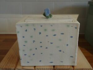 Storage container - porcelain. It's a handmade piece.