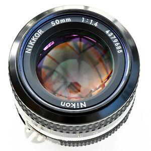 Nikon Nikkor 50mm f/1.4 AI Super Sharp Man Fcs lens. Mint-. Tested. See Images