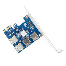WBTUO Riser Card PCI-E USB 3.0 Port Multiplier Card PCI express PCIe 1 to 4PCI-E
