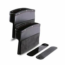 2 Pack Leather Catch Caddy Car Seat Console Gap Filler Side Pocket Organizer NEW