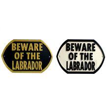 Beware Of The Labrador - 3D Printed Dog Plaque - Door Gate Garden Sign