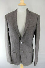 BRAND NEW WOOL RICH BLEND BROWN TWEED JACKET: 34 INCH CHEST