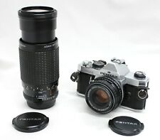 Pentax MX SLR Camera w/ smc Pentax-M 50mm F/1.7, Zoom Double Lens Kit from Japan