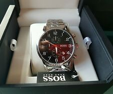 HUGO BOSS AEROLINER  WATCH BOX 100% GENUINE 1512446 NEW  TAGS & WARRANTY SALE