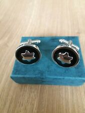 Silver Plated Cufflinks -  New With Presentation  Box