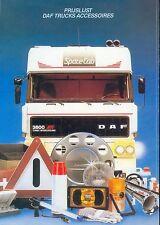 DAF Trucks Accessoires prijslijst Preisliste NL 1987 price list Lkw Nutzfahrzeug