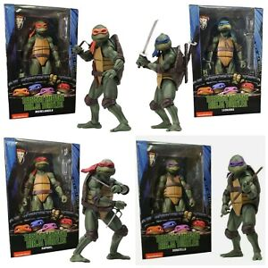"""FULL SET (4) OF NECA TMNT 1990 Movie 7"""" Scale Action Figure OFFICIAL"""