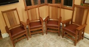 Stickley Furniture - Mission Collection - Four Spindle Arm Chairs