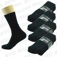 Black 6 Pairs Ankle/Quarter Crew Mens Socks Cotton Long Size 9-11 10-13 Sports