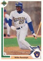 Willie Randolph 1991 Upper Deck #720 Milwaukee Brewers baseball card