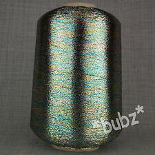 Multicolor Lurex Brillo Metálico Hilo 500g Cono Espacio Teñido de arco iris de punto fino