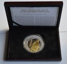 King Alfred la Gran Medalla Conmemorativa de Plata 5oz/moneda 24ct Chapado en Oro Certificado de Autenticidad