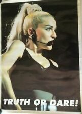 New Vintage 90s rare Madonna Truth or Dare poster still rolled in plastic