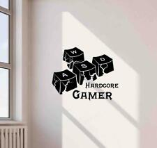Hardcore Gamer Wall Decal WASP Key Gift PC Gaming Decor Vinyl Sticker Poster 787