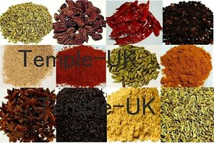 Indian Spices Herbs Seasonings Curry Marsala-Ground & Whole -50+ Verities