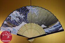 BEL EVENTAIL TRADITIONNEL JAPON FAN UCHIWA SENSU UKIYOE HOKUSAI NEW NEUF