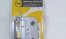 YALE 64MM CHROME EFFECT Bathroom Sashlock P-M236-CH-63 - Brand New Sealed