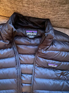 Patagonia Mens Down Sweater Vest Black Size Medium