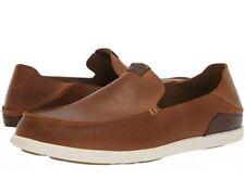 NIB OLUKAI Men's Nalukai Slip On Shoes Sz 13 Fox/Bone