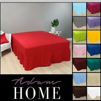 Plain Poly Cotton Extra Deep Fitted Sheets Frilled Valance Sheet In All Sizes