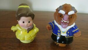 Fisher Price Little People Disney Beauty And The Beast Figures Belle & Beast Fun