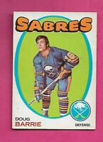 1971-72 OPC # 22 SABRES DOUG BARRIE  ROOKIE EX-MT  CARD (INV# C8366)