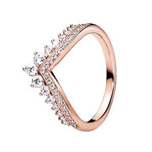 925 Silber Schöne Prinzessin Wishbone Style Cz Pandora Ring Sparkling 187736CZ