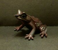 RARE Kaiyodo Yujin Play Vision Malaysian Horned Toad Frog Mini PVC Figure