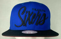 Mitchell and Ness NBA Philadelphia 76ers Home Script Snapback Hat, Cap, New