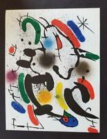 Joan Miro Original Stone Lithograph VI  Mourlot 1972 Limited ed. Rare