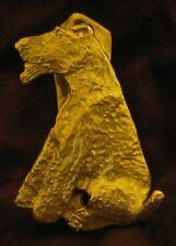 Welsh Terrier Solo Door Knocker in Bronze