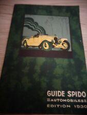GUIDE ENTRETIEN AUTO SPIDO année 1930 ( ref 67 )