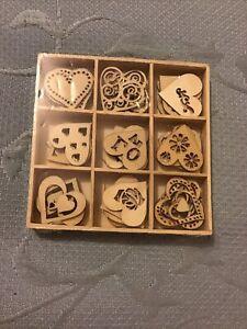 Kaisercraft Lucky Dip Wooden Shapes Love 45pieces