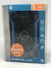 G-Technology 1TB G-DRIVE ev ATC Portable Rugged External Hard Drive with USB