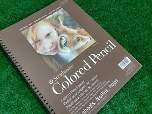 """Strathmore Colored Pencil Spiral Paper Pad 9""""X12"""" 62477900 100lb  30 Sheets"""